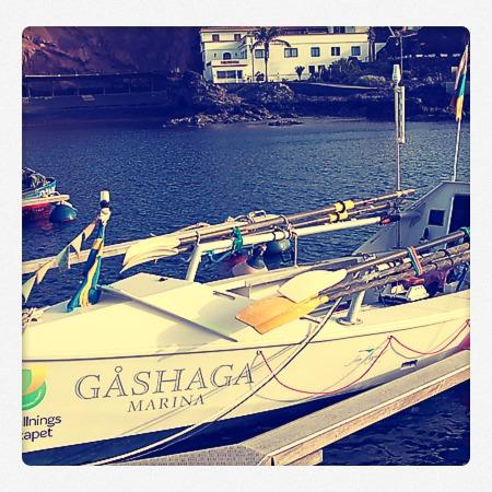 Gashaga preparado para cruzar el Atlántico